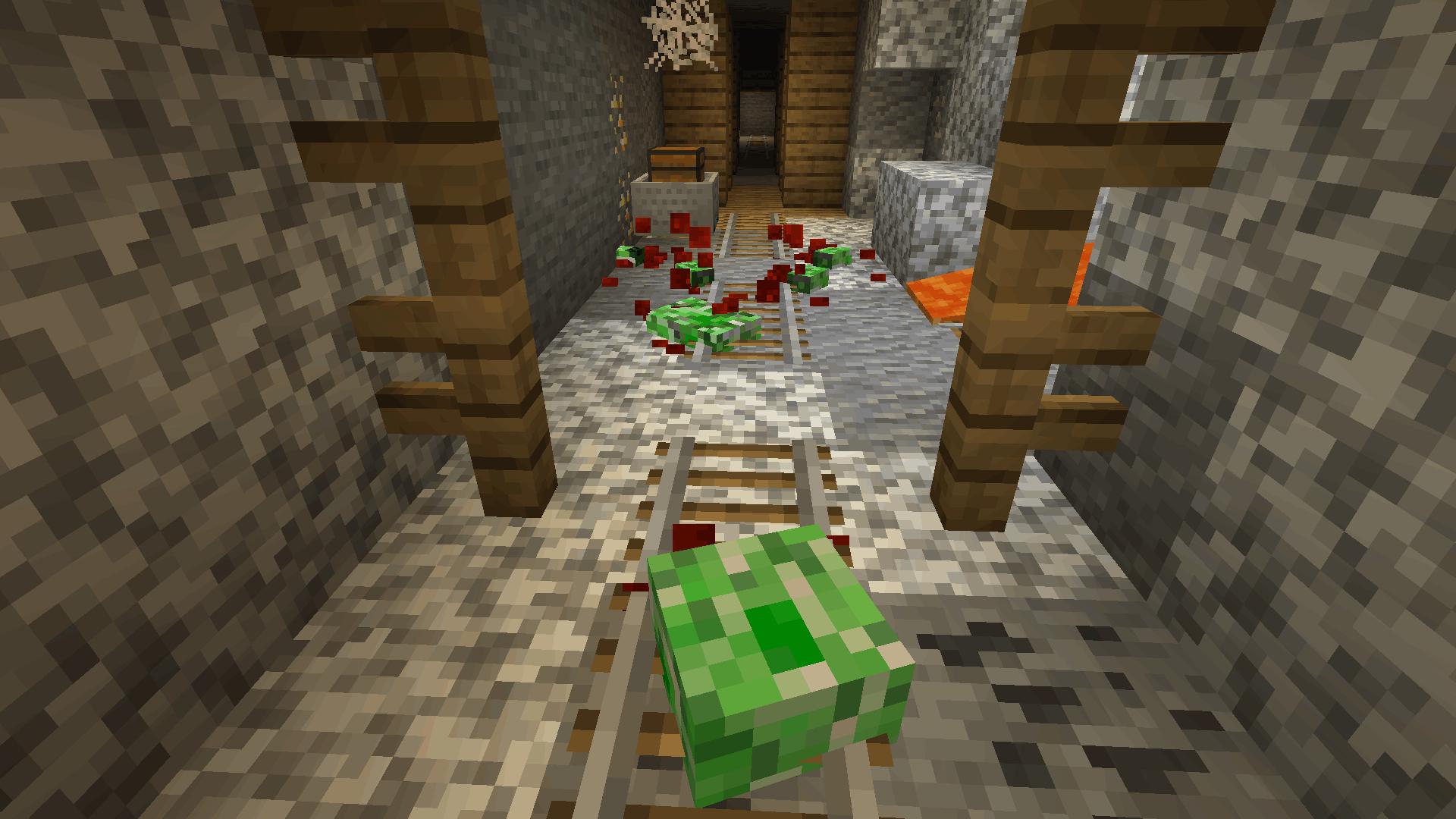 Dead creeper in mineshaft