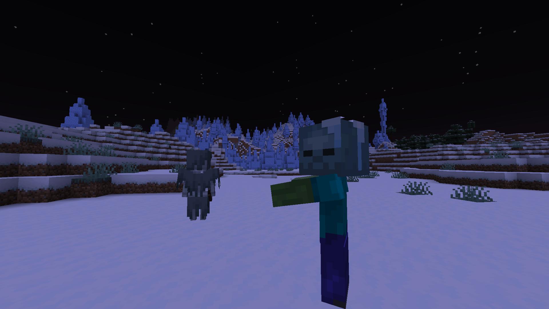 Frozen Zombie mit Stray