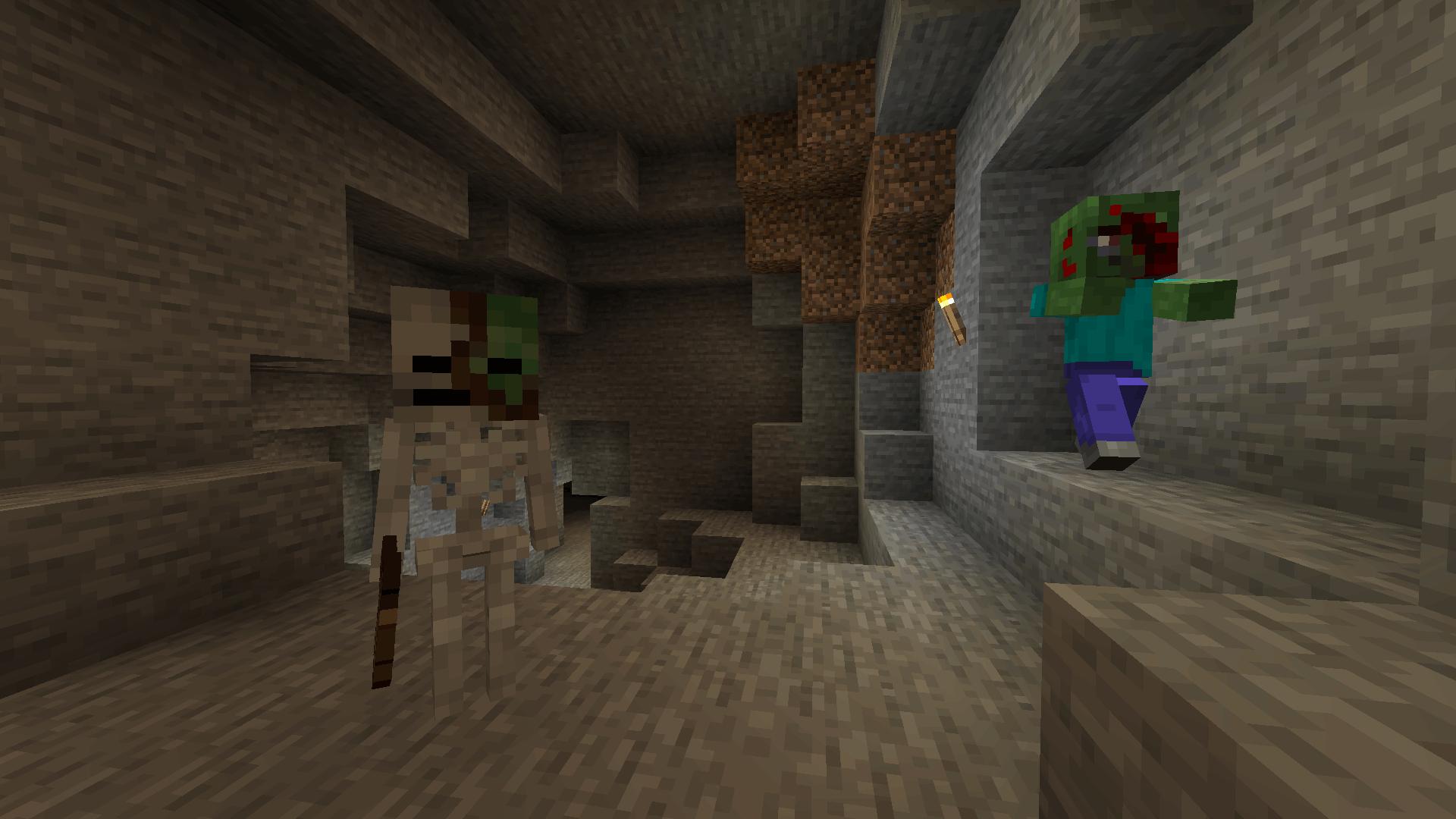 Zombie-Skeleton in cave